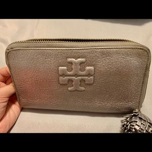 Gray Continental Tory Burch Wallet